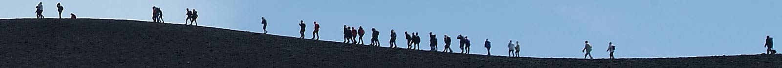 People on Mount Entna - Banner