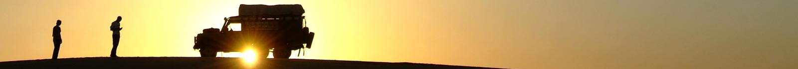 Land Rover against the sun Morocco Banner