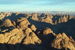 Desert mountains, north of Mount Sinai.