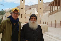 Me and Father Ruis Antony, Saint Anthony monastery, Egypt.