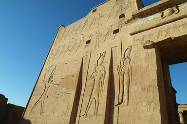 Edfu Temple pylon.