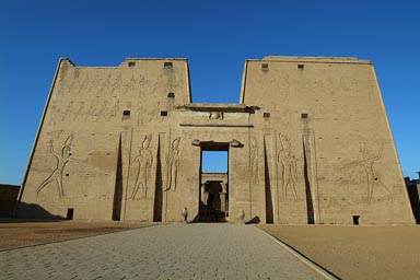Edfu temple, pylon.