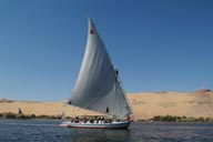 Felucca with tourists, Aswan.