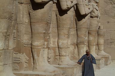 Arab, Egyptian statues, Karnak Temple.
