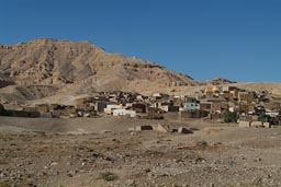 Village below al-Qurnah/al-Qurn.