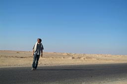 Me on road in southern Egypt.