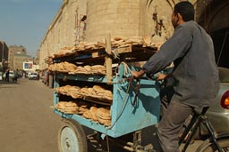Bread is cycled in Cairo.