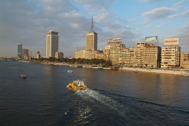 Skyline eastbank Nile, Cairo.