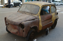 Cairo, rusty little Fiat.