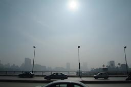 Smog in Cairo.