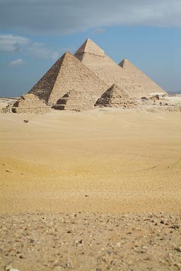 Portrait of the Giza Pyramids.