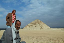 Abusir necropolis, Egyptian guides and guards.