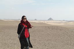 Desert and Christina, Saqqara.