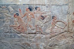 Saqqara, tomb of nobel, painting, engraving.