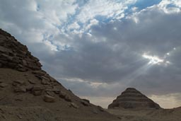 Light on Saqqara.