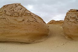 Rock structures, shaped by the wind, El-Hitan, Egypt.