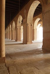 Collonade, Ibn Tulun, Cairo, light.