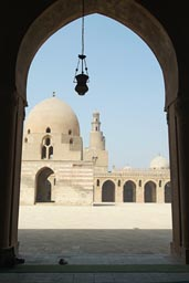 Ibn Tulun mosque, fountain, minaret, Cairo.