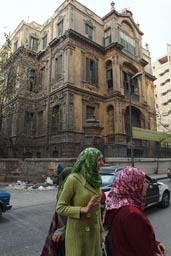 Muslim women, old house, Cairo.