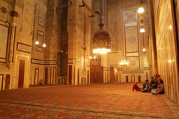 Father and kids, Rifai mosque, Cairo.