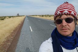 Me, North Mali, road, baobab.