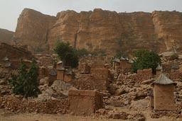 Village of Guiminie, Dogon Escarpement, Mali.