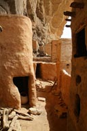Old village of Telly, deserted, Dogon graneries.