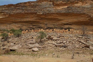 The old village of Telly, in Dogon Land, Escarpement.