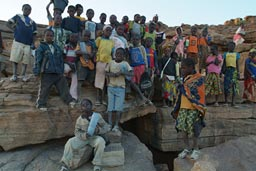 30 Dogon School children on top of Bandiagara Escarpement, near Tirelli.