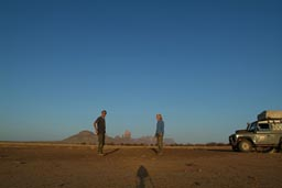 Hand of Fatima, Rosalind, me and Land Rover. Mali.