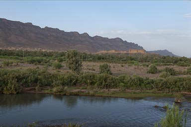 Kasba, green Draa Valley, Morocco.