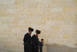 Haredi Jews, Shabbat on way to Western Temple Wall.
