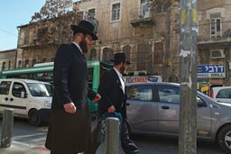 Haredim in Geula, Jerusalem.