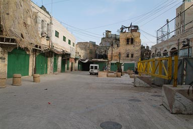 Checkpoint of IDF in old city Hebron, West Bank.