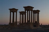 Twilight Tetrapylon, Palmyra.