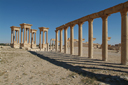 Collonade and tetrapylon, Syria, Palmyra.