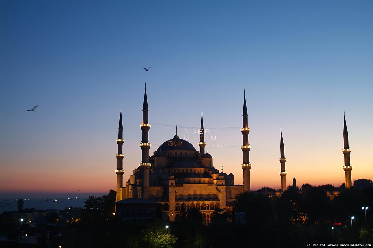 Gallery for gt blue mosque istanbul night