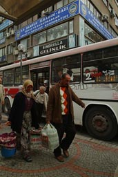 Samasun, peole, bus. Turkey.