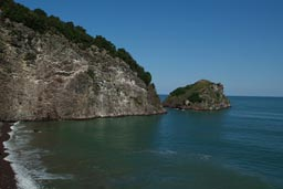 Islet, Black Sea coast, near Jason's Cape, Turkey.