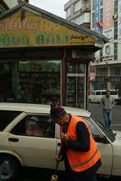 Trabzon, Turkey, honey shop, car, street sweeper.