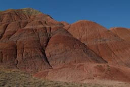 Rocky red desert hills in Eastern Turkey.