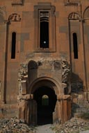 Cathedral, side main entrance in Ani, Turkey.