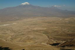 Mount Ararat and plains from other southern side opposing mountain.