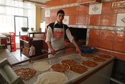 Turkish Pizza, cook and oven.