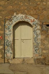 Painted door, Mardin.