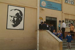 School and Ataturk poster.