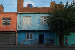 Diyarbakir, colourful houses.