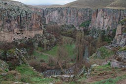 Gorge near Ihlara, Cappadokia, Turkey.