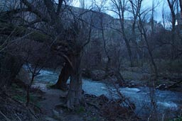 Cold, wet in canyon. near Ilhara, Cappadokia.