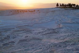 Sunset over Pamukkale, Turkey.